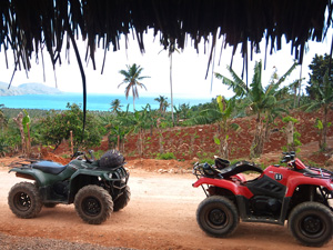 Quad Tour & Excursion to Playa Rincon Beach in Samana Dominican Republic for Cruise Ship Visitors.