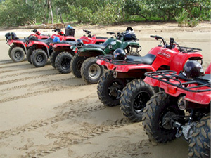 ATV Excursion in Samana Dominican Republic to Playa Rincon Beach. ATV Tour for Cruise Ship from Samana Port Dominican Republic.